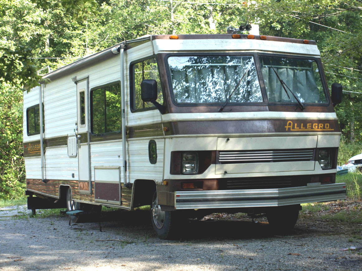 32' white with brown trim